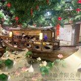 桂滿隴中式水上餐飲船6人仿古吃飯木船