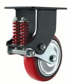 脚轮厂 中山兄弟脚轮4寸重型铸铁PU平底活动轮