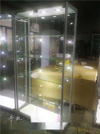 2016热门定制玻璃精品展示柜LED可调节玻璃柜定制