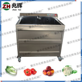 不锈钢厨房配套洗菜用具单缸洗菜机 气泡清洗蔬菜设备