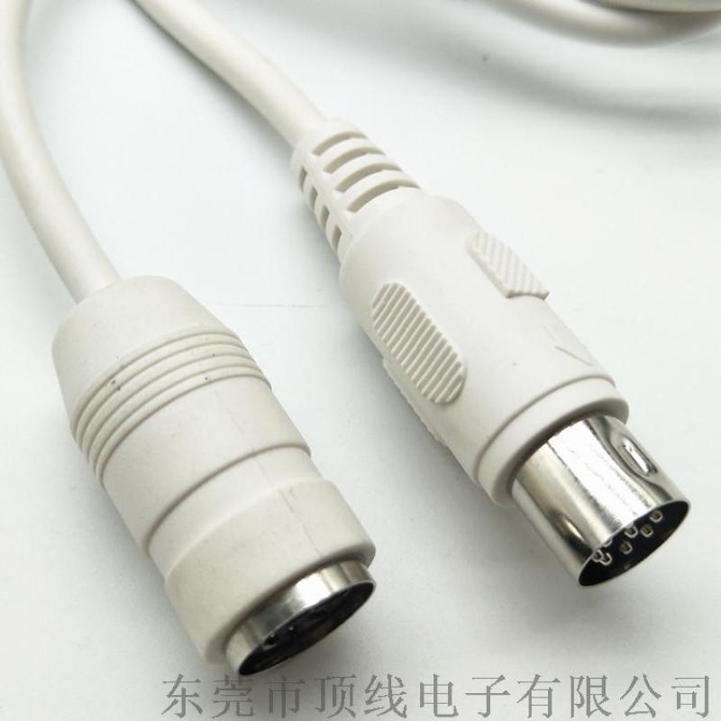 大DIN8P公对母延长线电源线
