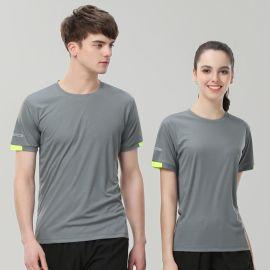 运动短袖t恤女 夏季学生跑步健身T恤定制速干衣服圆领广告衫印字