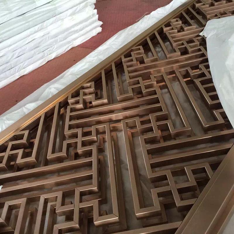 工廠定製不鏽鋼座屏酒店會所商場隔斷玄關來圖定製