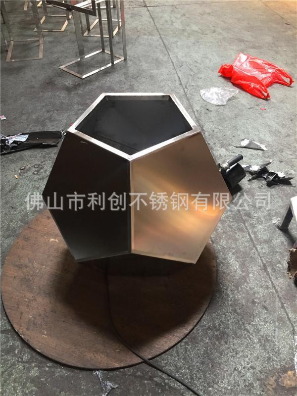 厂家定制不锈钢花盆 不锈钢花盆花箱组合 多边形工艺花盆花箱