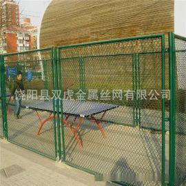 上海运动场围栏 体育场围网 篮球场勾花网 球场包塑勾花网