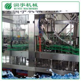 张家港润宇机械厂家定制牛奶灌装机,塑料瓶铝膜灌装机