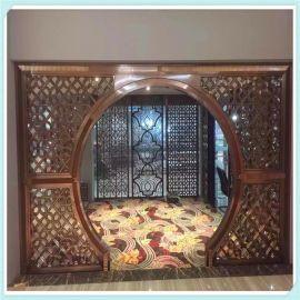 厂家定制304不锈钢屏风简约304不锈钢插屏酒店商场书房会所装饰