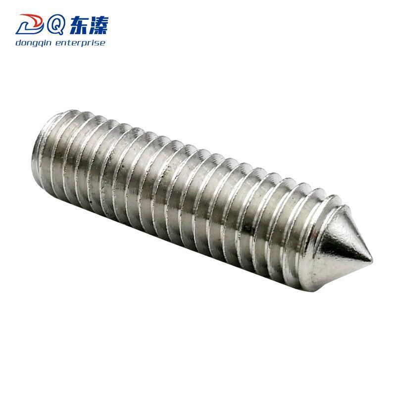 尖端機米螺釘 304不鏽鋼內六角尖端緊定螺絲 內六角螺釘現貨