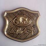 定製立體鋅合金電鍍古金汽車座墊金屬標牌 汽車注塑標牌 酒水標牌