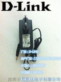 **D-LINK电源适配器12V1A机顶盒路由器交换机安防监控欧规黑色