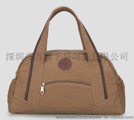 Cityshun**新款手提旅行包 男士帆布手提单肩行李包户外休闲运动包出差旅游包