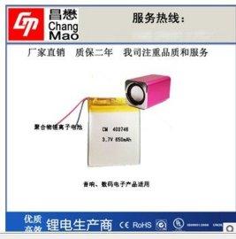 保暖鞋聚合物 电池 403746 650mAh电池 音箱 电动小玩具可定制