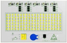 100W LED大功率免驱动泛光灯模组
