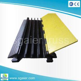 橡胶线槽板 二线槽减速带 舞台铺线板 橡胶穿线板电线 交通设备