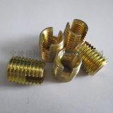 302型碳鋼鍍彩鋅開槽自攻螺套, 自攻螺紋護套, 自攻牙套