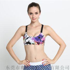 欧美时尚专业瑜伽健身运动文胸 防震透气运动文胸厂家批发