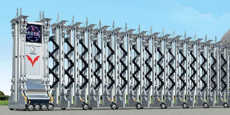 電動門-伸縮門安裝-不鏽鋼電動伸縮門廠家