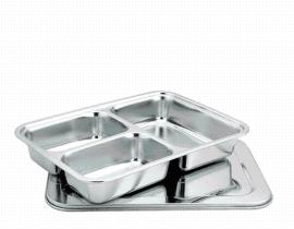 批发供应不锈钢快餐盘 儿童类 深餐盒 3.4.5.6格
