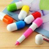 日韩国款创意文具批发 可爱学习用品 大药丸伸缩圆珠笔