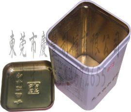 红色健康枸杞芽茶礼品罐, 天地盖枸杞芽茶金属罐