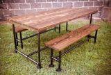 复古实木餐椅 咖啡厅桌椅 美式铁艺餐桌椅