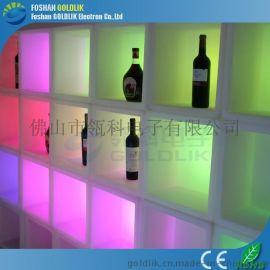 LED发光音乐家具酒柜酒吧前台设计冰柜佛山瓴科电子**混批