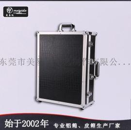 帶燈支架手提鋁箱可拆拉桿爆款化妝箱定製