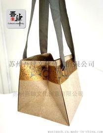 外贸出口 插花袋 橱窗展示袋 欧美时尚购物袋