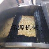 广西豆皮油炸沥油切割成套设备 小型豆腐皮油炸机厂家