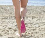 沙滩隐形脚底贴海边脚垫粘贴防滑防割伤防水便捷式男女自贴脚跟贴