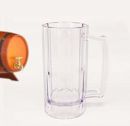 470ml厂家直销透明 马克杯 饮料 啤酒 塑料杯