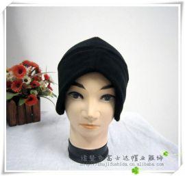 浙江帽子厂家男士帽子运动护耳帽子 冬季户外摇粒绒帽出口定做