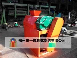 小型猪屎加工有机肥设备对辊挤压造粒机造粒设备厂