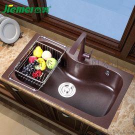 杰美JM302石英石水槽双槽花岗岩水槽