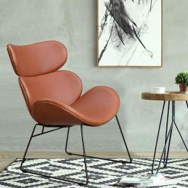休闲椅单人 皮椅子 懒人椅 咖啡厅椅 设计师家具