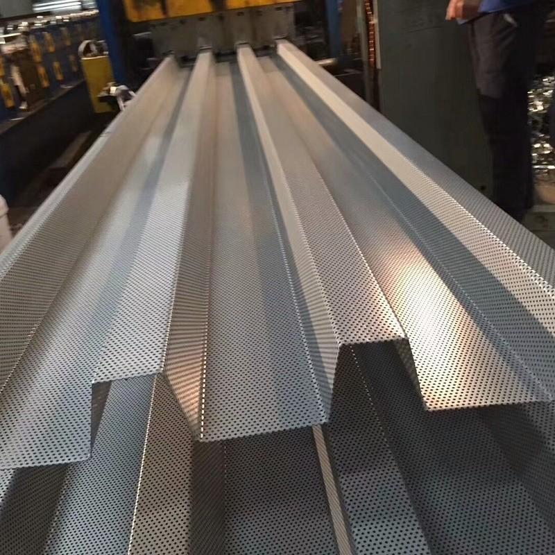 镀锌冲孔瓦 镀铝锌穿孔瓦 铝镁锰冲孔瓦