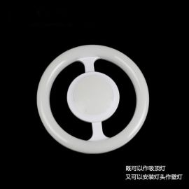 多用途圆环形方向盘壁灯20w家居照明LED灯盘灯座e27全塑LED吸顶灯