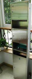 不锈钢组合型干手柜烘手器纸巾清洁下三合一