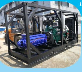 油田用柴油机水泵机组 高扬程柴油多级泵 框架式柴油机水泵