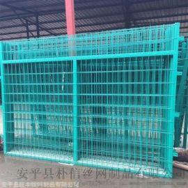 框架型高速公路铁路护栏网_工地围栏框架护栏网