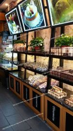 面包边柜-木质面包边柜展示柜-宏发展柜