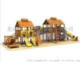 兒童木質滑梯戶外松果滑梯體能拓展攀爬兒童樂園設施
