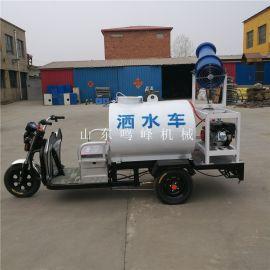 小型三轮车洒水喷雾炮,工厂环保降尘电动喷雾炮
