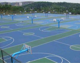 桂林塑胶篮球场施工、材料人工什么 康奇体育