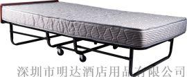 深圳廠家直供 15cm加厚折疊牀 酒店豪華加牀 彈簧牀
