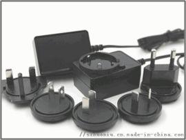可换头电源適配器9V1.5A欧,美,英,奥,日韩