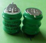 供应镍氢扣式充电电池组80mah 3.6V/带焊脚