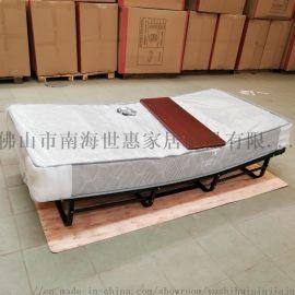 折叠酒店床北欧现代多功能铁架床家具厂家直销