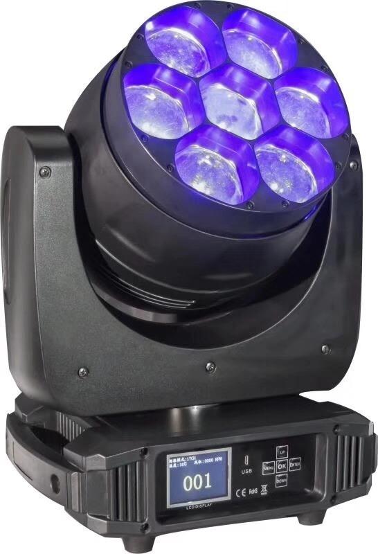 宝森灯光 7颗40W LED染色调焦摇头灯