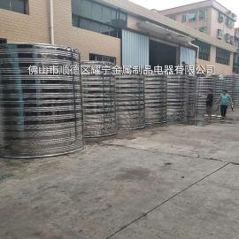 海南消防水箱 成品组合式水箱 拼装水蓄热圆形水箱